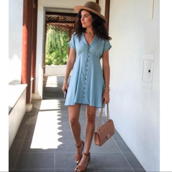 3a875d971cc Kimchi Blue Dresses   Skirts - KIMCHI BLUE LUCY SKY POLKA DOT SHIRT DRESS  MED